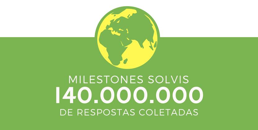 Solvis atinge mais de 140 milhões de avaliações coletadas